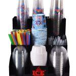 Organizer, dyspenser, podajnik na kubki, wieczka, słomki i łyżeczki – ICE KALINKA 2