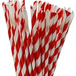 słomkolyzeczki papierowe czerwone