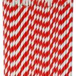 słomkolyzeczki papierowe czerwone 2