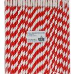słomkolyzeczki papierowe czerwone 3